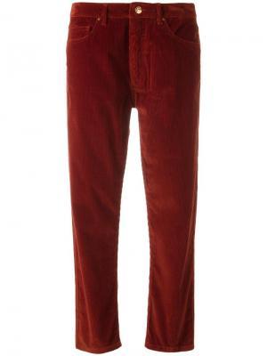 Укороченные брюки Aalto. Цвет: красный