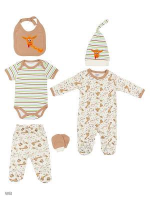 Комплект для новорожденного Bonito kids. Цвет: светло-коричневый