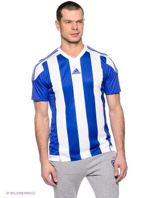 Футболка STRIPED 15 JSY Adidas. Цвет: синий, белый