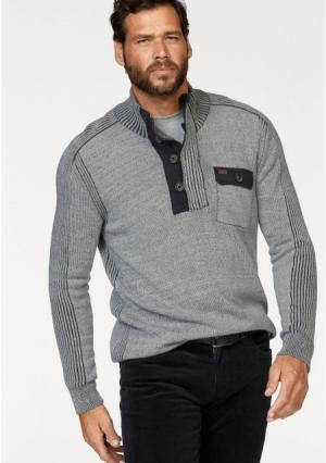 Пуловер Arizona. Цвет: серый/черный