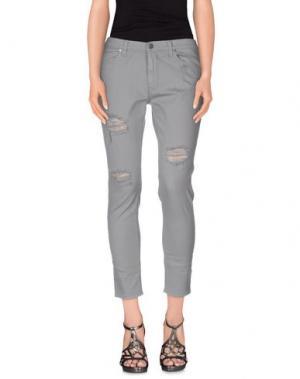 Джинсовые брюки GAëLLE Paris. Цвет: серый