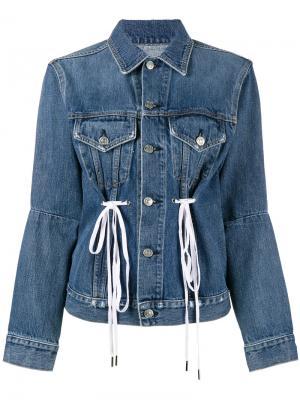 Джинсовая куртка со шнурком PSWL Proenza Schouler. Цвет: синий