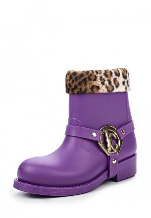 Резиновые сапоги Just Cavalli. Цвет: фиолетовый