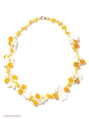 Ожерелье Infiniti. Цвет: желтый, молочный