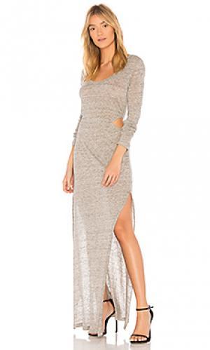 Макси платье athina YFB CLOTHING. Цвет: серый