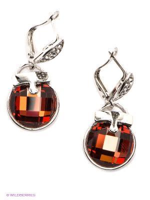 Серьги Royal Diamond. Цвет: красный, серебристый