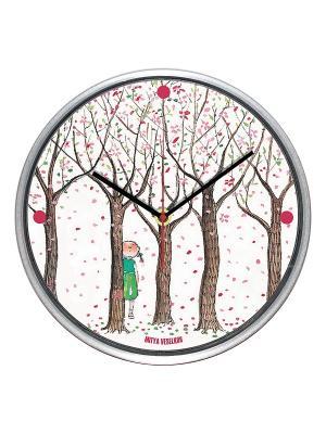 Часы настенные Mitya Veselkov. Цвет: белый, коричневый