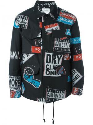 Свободная куртка с принтом Doublet. Цвет: чёрный