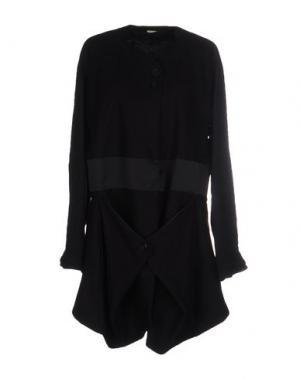 Легкое пальто MARITHÉ + FRANÇOIS GIRBAUD. Цвет: черный