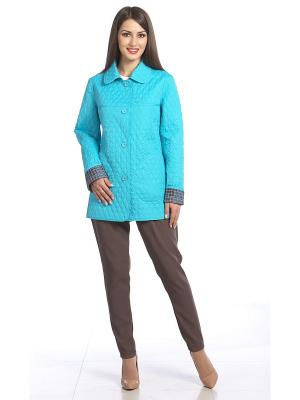 Куртка Lanicka. Цвет: голубой, белый, черный, серый
