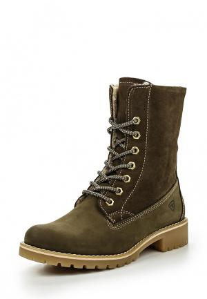 Ботинки Tamaris. Цвет: хаки