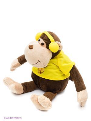 Обезьянка Ананасик, 21см Gulliver. Цвет: коричневый, желтый