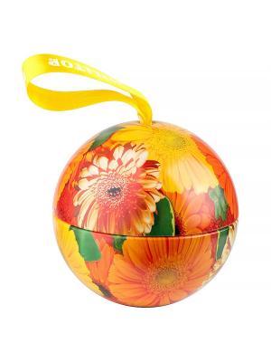 Чай Hilltop Цитрусовая фантазия 80 гр., цветочный шар Солнечные цветы. Цвет: оранжевый