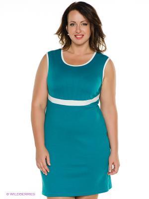 Платье MONDIGO. Цвет: морскаяволна, белый