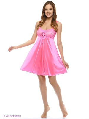 Сорочка ночная Belweiss. Цвет: коралловый, розовый