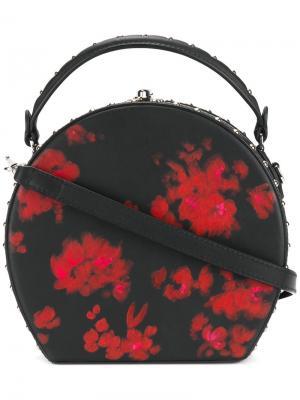 Сумка на плечо с цветчоным принтом Bertoni 1949. Цвет: чёрный
