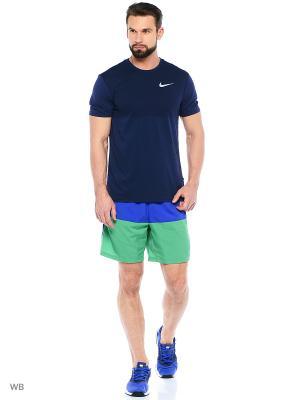 Шорты 7 DISTANCE SHORT (SP15) Nike. Цвет: синий, зеленый