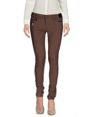 Повседневные брюки E-GÓ. Цвет: какао
