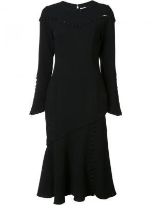 Платье с длинными рукавами Prabal Gurung. Цвет: чёрный