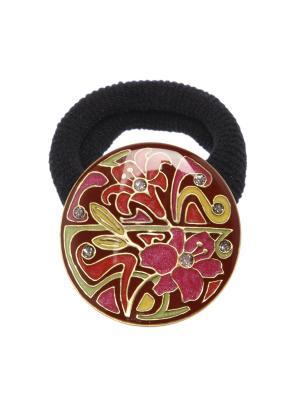Резинка Clara Bijoux. Цвет: серо-зеленый, красный, розовый