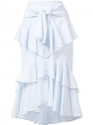 Многоярусная юбка  Parker Frill Rebecca Vallance. Цвет: синий