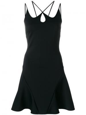 Платье А-образного силуэта с лямками David Koma. Цвет: чёрный
