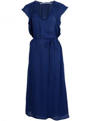 Платье миди Raquel Allegra. Цвет: синий