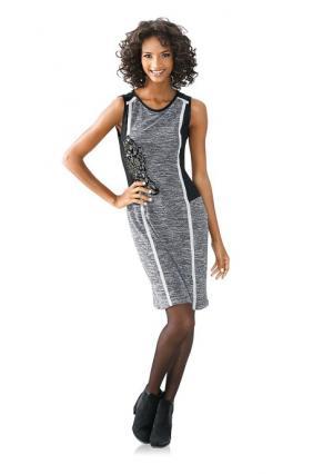 Платье Linea Tesini. Цвет: черный