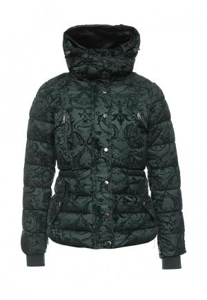 Куртка утепленная Fantasy. Цвет: зеленый