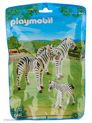Зоопарк: Семья Зебр Playmobil. Цвет: белый, черный