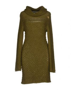 Короткое платье NOLITA. Цвет: зеленый
