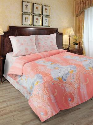 Комплект постельного белья Любимый Дом. Цвет: бледно-розовый, розовый