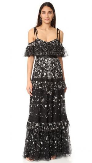 Вечернее платье Supernova Needle & Thread. Цвет: серый
