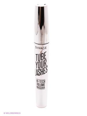 Тушь для ресниц TUBE YOUR LASHES Hi-Tech Volume Mascara тон 02 DIVAGE. Цвет: серый
