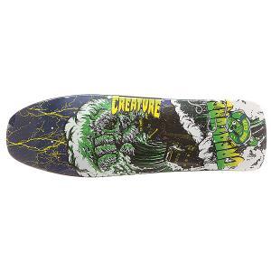 Дека для скейтборда лонгборда  S6 Lg Surf Club 31.3 x 10 (25.4 см) Creature. Цвет: мультиколор