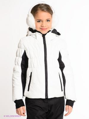 Куртка CACAO. Цвет: белый
