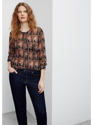 Блузка - HAIDI Violeta by Mango. Цвет: черный