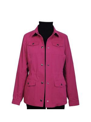 Куртка HARTWEAR. Цвет: фуксия, малиновый