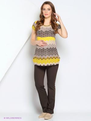 Блуза Gebbe. Цвет: желтый