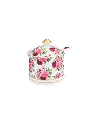 Сахарница Аромат роз Elan Gallery. Цвет: белый, зеленый, красный, розовый