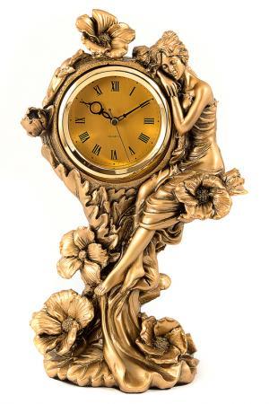 Часы настольные 15x20x36 см Русские подарки. Цвет: бронзовый