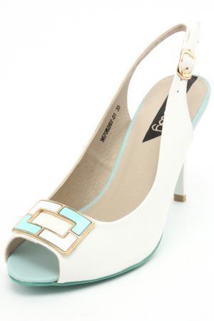 Туфли открытые Betsy. Цвет: белый, голубой