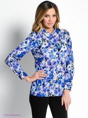 Рубашка Vis-a-vis. Цвет: синий, зеленый, фиолетовый