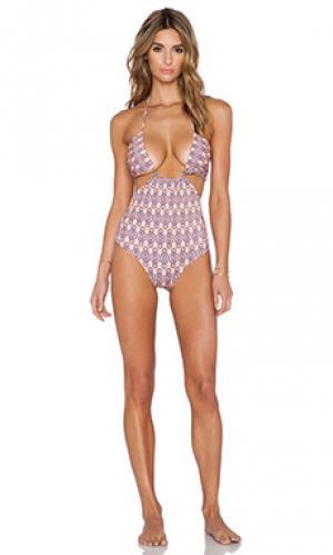 Купальник marlena Salt Swimwear. Цвет: персиковый
