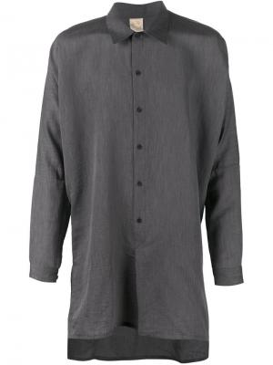 Удлинённая рубашка свободного кроя Jan Van Essche. Цвет: серый