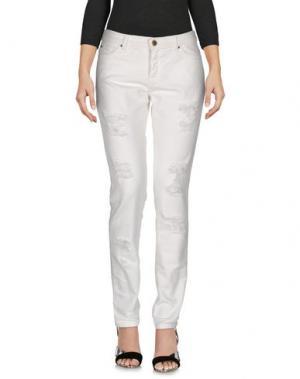Джинсовые брюки SPACE STYLE CONCEPT. Цвет: белый