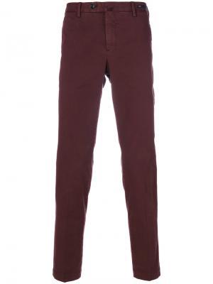Классические брюки-чинос Pt01. Цвет: красный