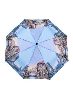 Зонт NUAGES. Цвет: голубой, желтый