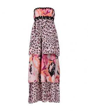 Платье длиной 3/4 NAUGHTY DOG. Цвет: розовый