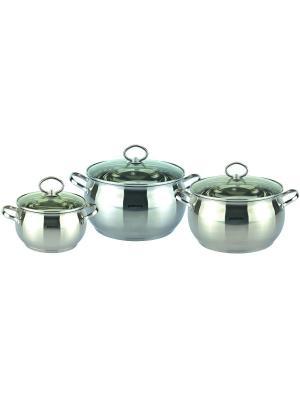 Набор кухонной посуды Bohmann BH-0601.Кастрюли 3,1л/4,0л/6,5л. Цвет: серебристый